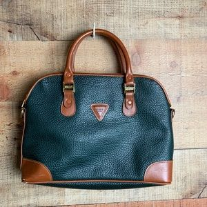 Guess Vintage Leather Hunter Green Purse